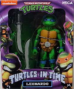NECA TEENAGE MUTANT NINJA TURTLES TURTLES IN TIME 7インチアクションフィギュア シリーズ1 LEONARDO