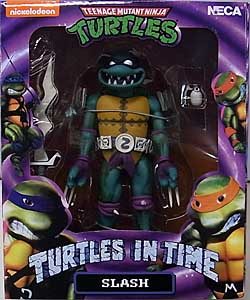 NECA TEENAGE MUTANT NINJA TURTLES TURTLES IN TIME 7インチアクションフィギュア シリーズ1 SLASH