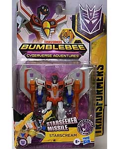 HASBRO アニメ版 TRANSFORMERS BUMBLEBEE CYBERVERSE ADVENTURE WARRIOR CLASS STARSCREAM 台紙傷み特価