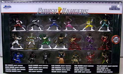 JADA TOYS NANO METALFIGS POWER RANGERS 20PACK