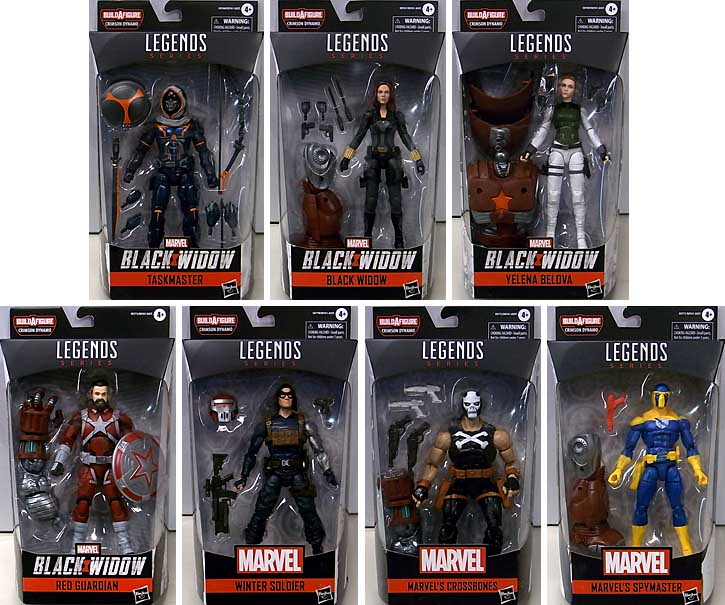HASBRO MARVEL LEGENDS 2020 BLACK WIDOW SERIES 1.0 7種セット [CRIMSON DYNAMO SERIES]