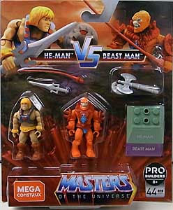 MEGA CONSTRUX FINAL SHOWDOWN 2PACK MASTERS OF THE UNIVERSE HE-MAN VS BEAST MAN 台紙傷み特価