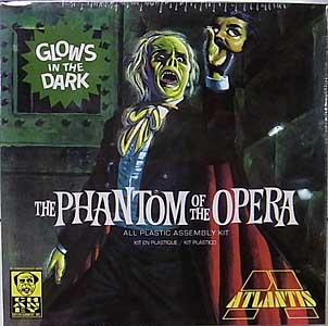 アトランティスモデル 1/8スケール オペラの怪人 グロー・イン・ザ・ダーク 組み立て式プラモデル