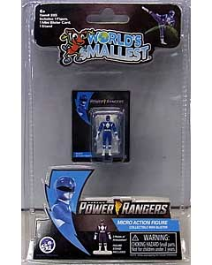 SUPER IMPULSE WORLD'S SMALLEST MICRO ACTION FIGURES POWER RANGERS MIGHTY MORPHIN BLUE RANGER