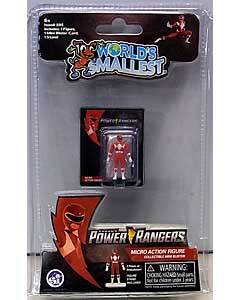SUPER IMPULSE WORLD'S SMALLEST MICRO ACTION FIGURES POWER RANGERS MIGHTY MORPHIN RED RANGER