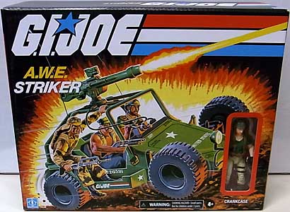 HASBRO G.I.JOE WALMART限定 3.75インチアクションフィギュア RETRO COLLECTION A.W.E. STRIKER WITH CRANKCASE