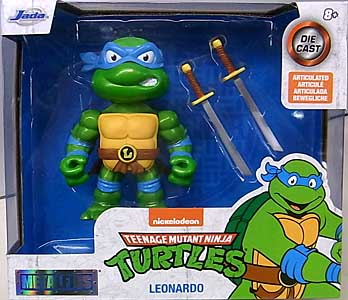 JADA TOYS METALS DIE CAST 4インチフィギュア TEENAGE MUTANT NINJA TURTLES LEONARDO