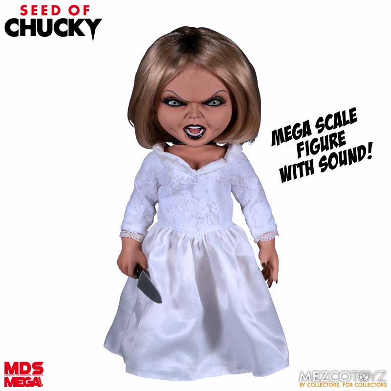 MEZCO DESIGNER SERIES SEED OF CHUCKY MEGA SCALE TALKING TIFFANY