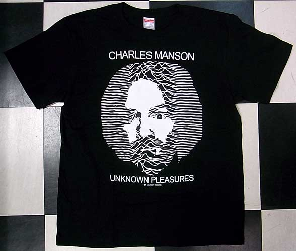 CHARLES MANSON / UNKNOWN PLEASURES Tシャツ