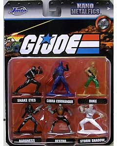 JADA TOYS NANO METALFIGS G.I.JOE 6PACK