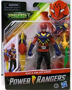 HASBRO POWER RANGERS BEAST MORPHERS 6インチアクションフィギュア BEAST-X KING RED RANGER