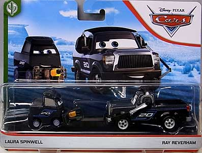 MATTEL CARS 2020 2PACK LAURA SPINWELL & RAY REVERHAM 台紙傷み特価