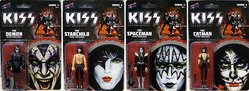 BIF BANG POW! KISS PSYCHO CIRCUS 3.75インチアクションフィギュア 4種セット パッケージ傷み特価