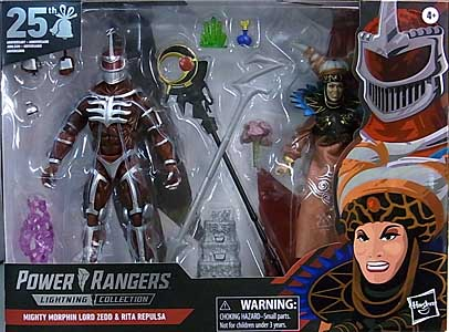 HASBRO POWER RANGERS LIGHTNING COLLECTION GAMESTOP限定 6インチアクションフィギュア 2PACK MIGHTY MORPHIN LORD ZEDD & RITA REPULSA