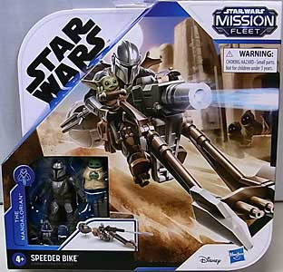 HASBRO STAR WARS MISSION FLEET THE MANDALORIAN & CHILD SPEEDER BIKE