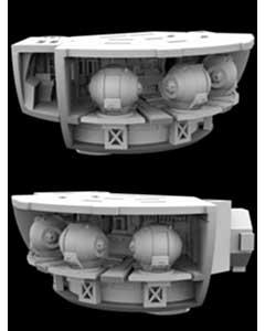PARAGRAFIX メビウスモデル 1/350スケール 2001年宇宙の旅 ディスカバリー号 XD-1用 ポッドベイ 3Dプリントパーツキット / PGX235