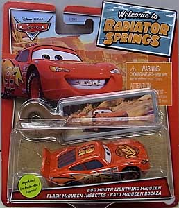 MATTEL CARS 2021 WELCOME TO RADIATOR SPRINGS シングル BUG MOUTH LIGHTNING McQUEEN WITH KEY CHAIN
