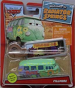 MATTEL CARS 2021 WELCOME TO RADIATOR SPRINGS シングル FILLMORE WITH KEY CHAIN 台紙傷み特価