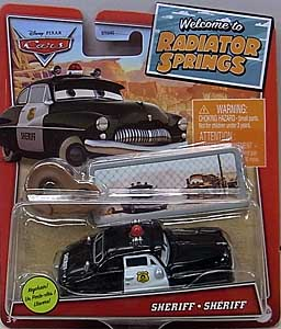 MATTEL CARS 2021 WELCOME TO RADIATOR SPRINGS シングル SHERIFF WITH KEY CHAIN