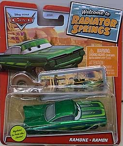 MATTEL CARS 2021 WELCOME TO RADIATOR SPRINGS シングル RAMONE [GREEN] WITH KEY CHAIN 台紙傷み特価