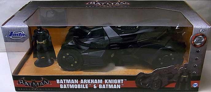 JADA TOYS METALS DIE CAST 1/24スケール BATMAN: ARKHAM KNIGHT BATMOBILE & BATMAN