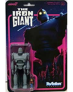 SUPER 7 REACTION FIGURES 3.75インチアクションフィギュア THE IRON GIANT THE IRON GIANT WITH HOGARTH HUGHES 台紙傷み特価