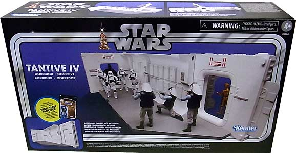 HASBRO STAR WARS 3.75インチアクションフィギュア THE VINTAGE COLLECTION 2021 TANTIVE IV HALLWAY PLAYSET