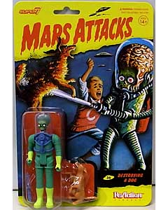 SUPER 7 REACTION FIGURES 3.75インチアクションフィギュア MARS ATTACKS [DESTROYING A DOG]