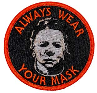 ROCK REBEL アイロンワッペン WEAR YOUR MASK MICHAEL MYERS