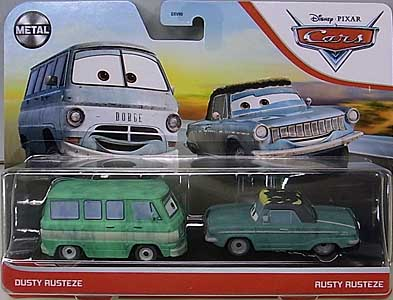MATTEL CARS 2021 2PACK DUSTY RUST-EZE & RUSTY RUST-EZE 台紙傷み特価