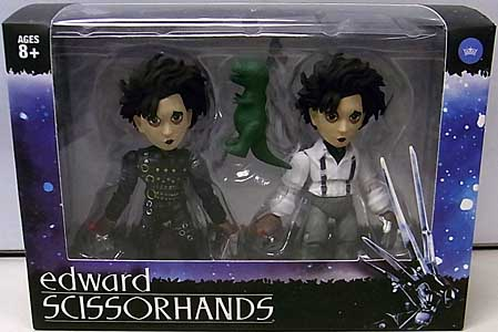 THE LOYAL SUBJECTS ACTION VINYLS 2PACK EDWARD SCISSORHANDS INVENTOR EDITION & SUBURBAN EDITION パッケージ破れ特価