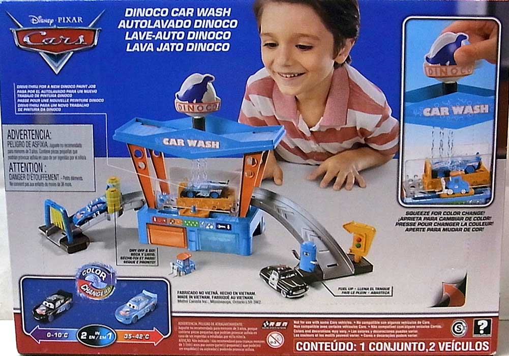 MATTEL CARS 2020 COLOR CHANGERS PLAYSET DINOCO CAR WASH