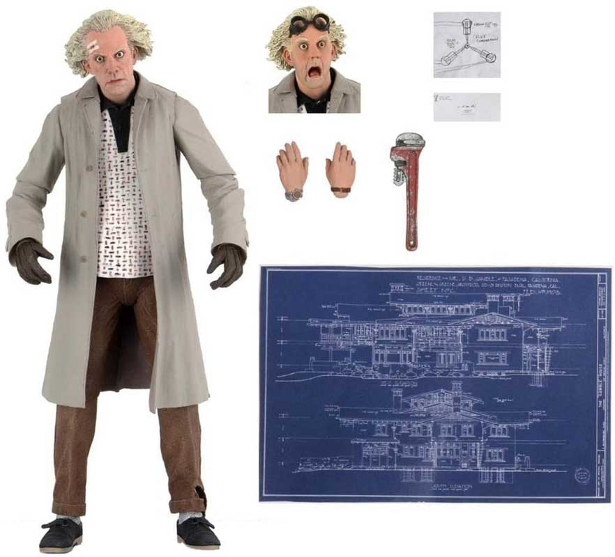 NECA BACK TO THE FUTURE 7インチアクションフィギュア BACK TO THE FUTURE ULTIMATE DOC BROWN