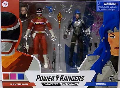 HASBRO POWER RANGERS LIGHTNING COLLECTION 6インチアクションフィギュア 2PACK IN SPACE RED RANGER & ASTRONEMA