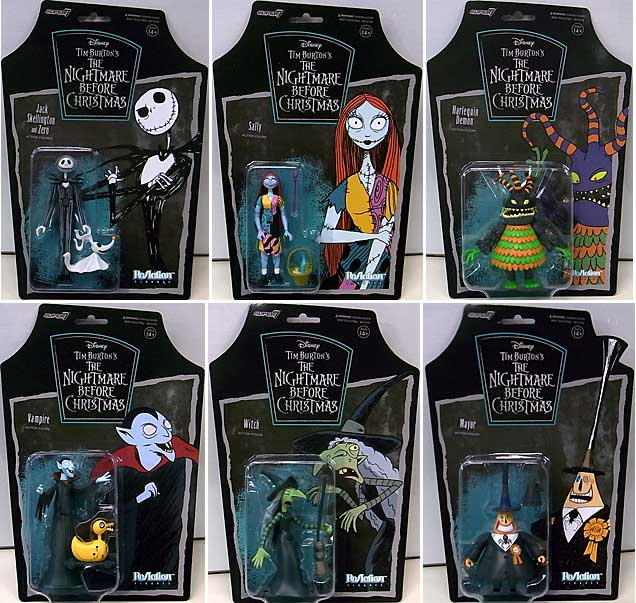 SUPER 7 REACTION FIGURES 3.75インチアクションフィギュア THE NIGHTMARE BEFORE CHRISTMAS WAVE 1 6種セット