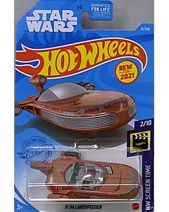 MATTEL HOT WHEELS 1/64スケール 2021 HW SCREEN TIME STAR WARS X-34 LANDSPEEDER #12