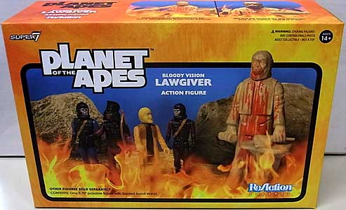 SUPER 7 REACTION FIGURES 3.75インチアクションフィギュア PLANET OF THE APES WAVE 2 LAW GIVER STATUE [BLOODY]