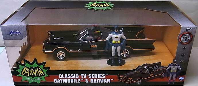 JADA TOYS METALS DIE CAST 1/24スケール BATMAN CLASSIC TV SERIES CLASSIC TV SERIES BATMOBILE & BATMAN