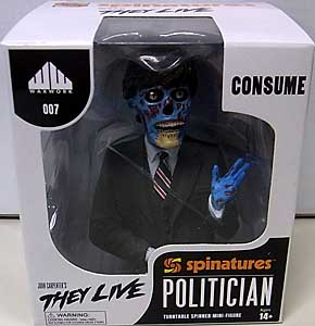 WAXWORK RECORDS THEY LIVE POLITICIAN SPINATURE BUST