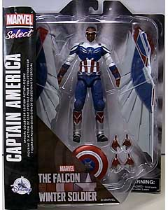 DIAMOND SELECT MARVEL SELECT USAディズニーストア限定 THE FALCON AND THE WINTER SOLDIER CAPTAIN AMERICA