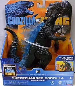 PLAYMATES GODZILLA VS. KONG 6インチベーシックアクションフィギュア SUPERCHARGED GODZILLA WITH FIGHTER JET