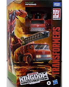 HASBRO TRANSFORMERS KINGDOM VOYAGER CLASS INFERNO