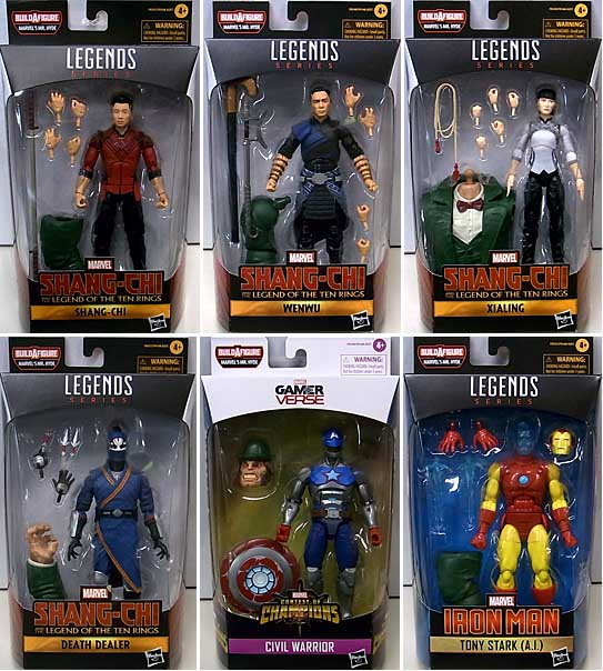 HASBRO MARVEL LEGENDS 2021 SHANG-CHI AND THE LEGEND OF THE TEN RINGS WAVE 1.0 [MR. HYDE SERIES] 6種セット