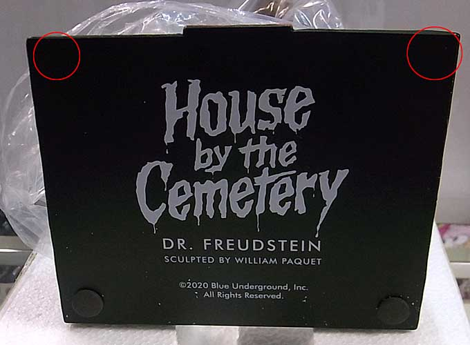 TRICK OR TREAT STUDIOS 12インチスタチュー THE HOUSE BY THE CEMETERY DR. FREUDSTEIN パッケージ傷み&ワケアリ特価