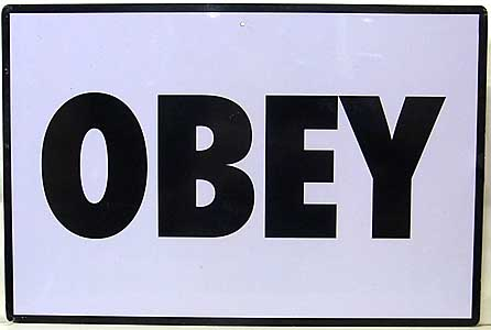 TRICK OR TREAT STUDIOS THEY LIVE OBEY METAL SIGN