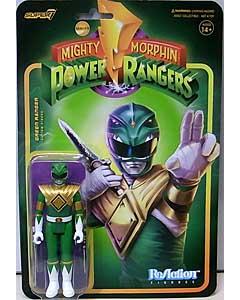 SUPER 7 REACTION FIGURES 3.75インチアクションフィギュア MIGHTY MORPHIN POWER RANGERS WAVE 1 GREEN RANGER