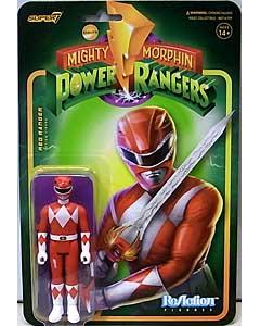 SUPER 7 REACTION FIGURES 3.75インチアクションフィギュア MIGHTY MORPHIN POWER RANGERS WAVE 1 RED RANGER