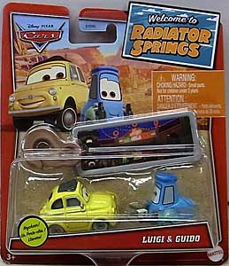 MATTEL CARS 2021 WELCOME TO RADIATOR SPRINGS シングル LUIGI & GUIDO WITH KEY CHAIN