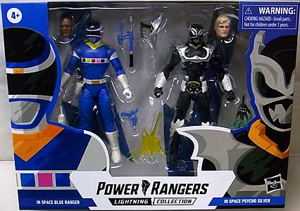 HASBRO POWER RANGERS LIGHTNING COLLECTION 6インチアクションフィギュア 2PACK IN SPACE BLUE RANGER & IN SPACE PSYCHO SILVER