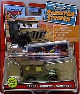 MATTEL CARS 2021 WELCOME TO RADIATOR SPRINGS シングル SARGE WITH KEY CHAIN